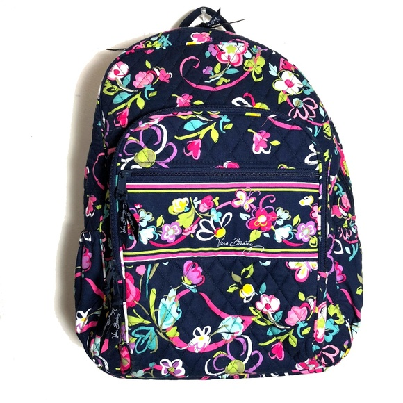 dcc2ff493ba Vera Bradley Campus Backpack in RIBBONS pattern. M 5ad6b132f9e501b1c7e639a0